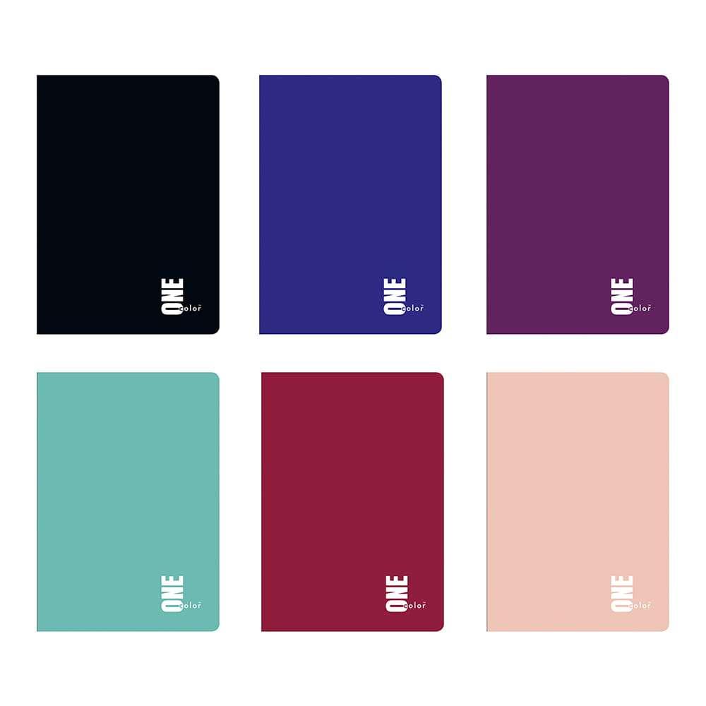 Zeszyt A4 60k kratka One Color INTERDRUK - pakowane po 5 szt. rózne kolory MIX - magazyn