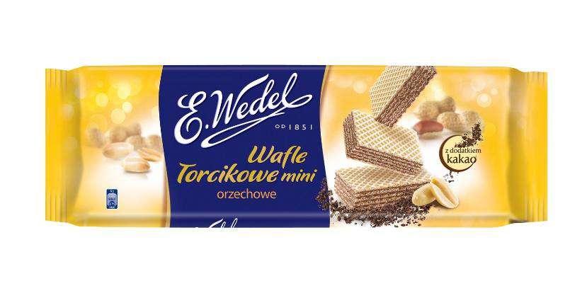 Wafle Torcikowe Wedel mini 160g orzechowe