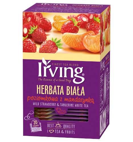 Herbata Irving biała Poziomkowa z mandarynką, 20 torebek