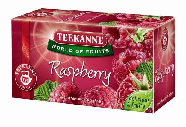 Herbata owocowa Teekanne Raspberry, malinowa, op. 20 torebek