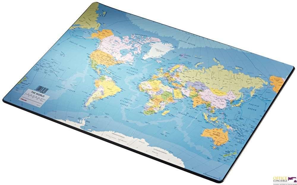 Podkładka na biurko z mapą świata 400x530mm ESSELTE 32184