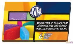 Modelina z brokatem 6 kol ASTRA 304109001