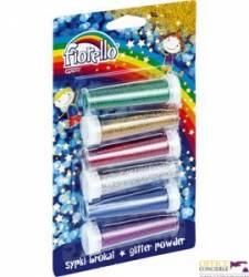 Brokat sypki FIORELLO GR-B6B62 6 kolorów x 6g w fiolce 170-2237