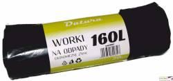 Worki na śmieci DATURA 160L ekonomiczny (20szt) 25mic LDPE