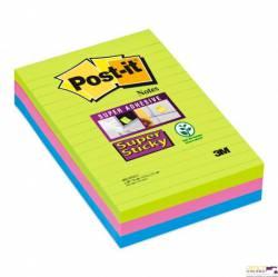 Bloczki 3M POST-IT 660-3S 102x152mm 3x90k w linie Super Sticky 70005253409