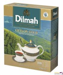Herbata Ceylon DILMAH GOLD, 100 torebek x 2g saszetki czarna