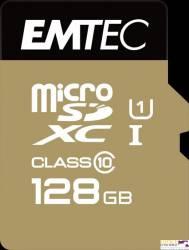 Pamięć MicroSD EMTEC 128GB MicroSDXC CL10 GOLD+ ECMSDM128GXC10GP