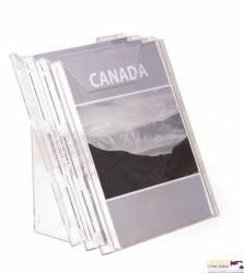 Zestaw półek na czasopisma 3xA4 przeroczyst COMBIBOXX DURABLE 8580-19