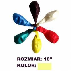 Balony 10 METALIK j.żółt(100) KW TRADE