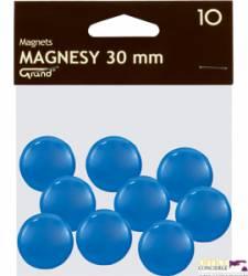Magnesy 30mm GRAND niebieskie (10) ^ 130-1696                     a