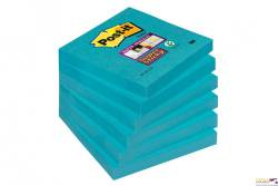 Bloczki 3M POST-IT 76x76mm niebieskie Super Sticky 6x 90 kartek 70005253284