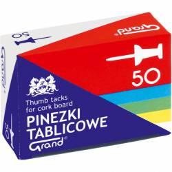 Pinezki tablicowe op-50szt. kolorowe GRAND 110-1657