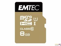 Pamięć MicroSD EMTEC 8GB MicroSDHC CL10 GOLD+ ECMSDM8GHC10GP