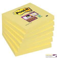 Bloczek  76*76 654-12SSCY-EU żółty S.STICKY-ULTRA 7000519788 3M, MOCNY KLEJ, SILNE
