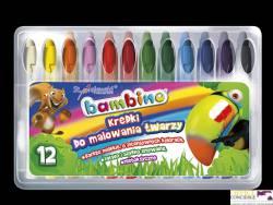 Kredki do malowania twarzy BAMBINO 12 kolorów 5046 ST.MAJEWSKI