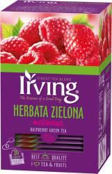 Herbata Irving zielona z maliną, 20 torebek w kopertach
