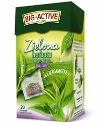 Herbata BIG-ACTIVE EARL GREY z bergamotką 20 torebek 1,5g, zielona