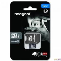Pamięć MicroSD INTEGRAL 8GB MicroSDHC CL10 INMSDH8G10-40U1 ULTIMA PRO
