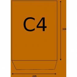 Koperty C4 NK brązowe 90g (op. 500 szt.) 31613020 NC zaklejane na mokro