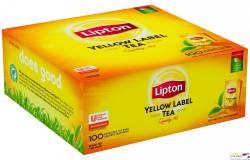 Herbata LIPTON Yellow Label w KOPERTACH -100 kopert