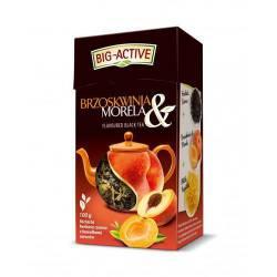 Herbata Big-Active brzoskwinia i morela, liściasta, 80 g