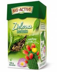 Herbata BIG-ACTIVE kawałkami opuncji, 100g liściasta zielona