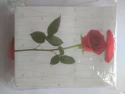 Torebka LUX z brokatem A5 18x24x8(12) ROZETTE róża