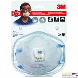 Półmaska filtrująca przeciw pyłom,mgłom(3)3M z zaworem8822 FFP2 XA004838836