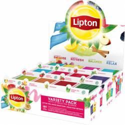 Herbata LIPTON Variety Pack - 12 smaków x 15 kopert, czarna - w sumie 180 torebek