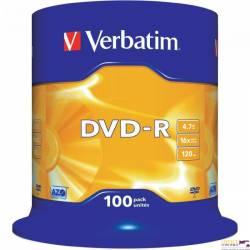 Płyta DVD-R VERBATIM CAKE(100) Matt Silver 4.7GB x16        43549
