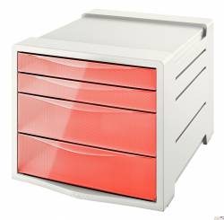 """Pojemnik z szufladami ESSELTE COLOUR""""ICE brzoskwiniowy 626283"""