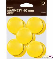 Magnesy 40mm GRAND żółte     (10)^ 130-1704