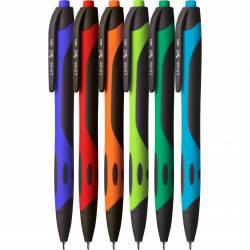 Długopis 1.0mm, mix kol.obudowy , wkład niebieski KD913-NM TETIS
