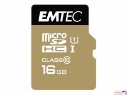 Pamięć MicroSD EMTEC 16GB MicroSDHC CL10 GOLD+ ECMSDM16GHC10GP