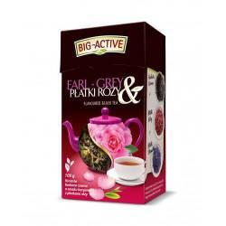 Herbata Big-Active Earl Grey z płatkami róży, liściasta, 80 g