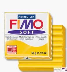 FIMOsoft, masa termoutwardzalna 56g, żółty sł S 8020-16
