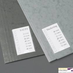 Samoprzylepne kieszenie na etykiety 3L 25x75mm 10310
