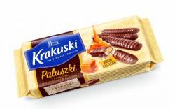 Ciasteczka Krakuski z karmelem i czekoladą mleczną, 140 g