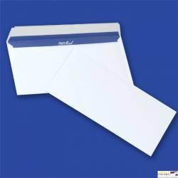 Koperty eleganckie SUPER MAIL DL HK białe 100g (op. 400 szt.) NC samoklejące z paskiem 11239030