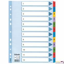 Przekładki kartonowe MYLAR A4 1-12 100162 białe ESSELTE