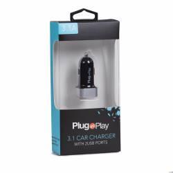 Ładowarka samochodowa 3.1A z 2 x USB Plug&Play PP-2USB 3.1A CAR