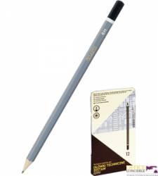 Ołówki techn.6B-6H 12szt.met.pudełko GRAND 160-1619