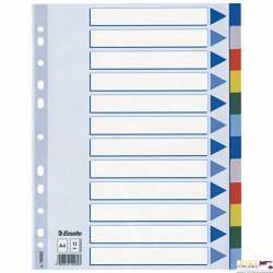 Przekładki plastikowe z PP A4 ESSELTE 12 kart 15262