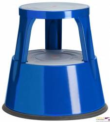Taboret biurowy TWIN METALOWY dwustopniowy_ niebieski 6300-5 TWINCO