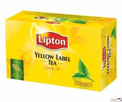 Herbata LIPTON yellow label, 50 torebek