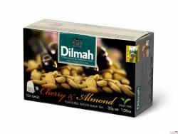 Herbata DILMAH aromatyzowana wiśnia i migdał  (20 saszetek) czarna
