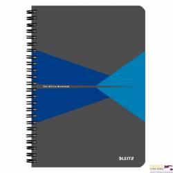 Kołonotatnik OFFICE PP A5 kratka niebieski 44980035 LEITZ