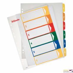 Przekładki plastikowe ESSELTE 1-6 do zadruku 100212
