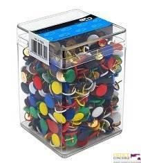 Pinezki kolorowe (750szt) 3751 E&D plastikowe pudełko