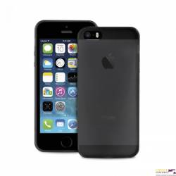 PURO Ultra Slim 0.3mm Cover iPhone 5/5S/SE + folia na ekran IPC503BLK czarn